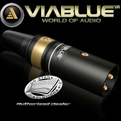 ViaBlue T6s XLR Male Connector Black (1 pc)